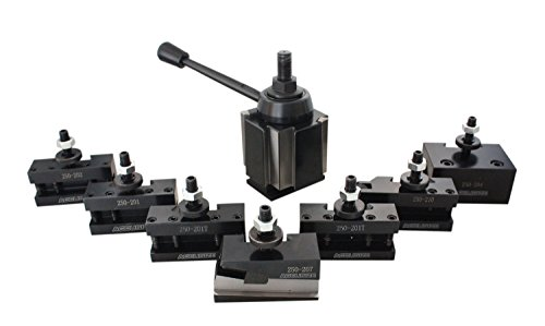 Accusize Industrial Tools Bxa 6 Pc Wedge Type Quick Change Tool Post Set Plus 2 Pcs Oversize Bxa Style 1 Turning and Facing Holders, 0251-0228