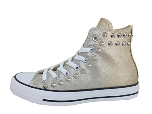 Balzi Borchiate Converse Metallic Oro Calzature Star Borchie Ombre all XrXna5