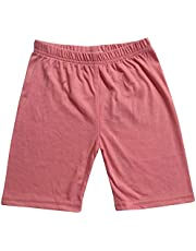 Kids Girls Cycling Shorts Stretchy Gym Dance Summer Short Knee Length Half Pants