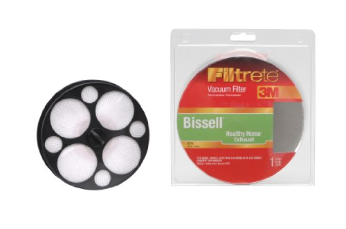 3M Filtrete Bissell Healthy Home Exhaust HEPA Vacuum Filter, 1 Pack