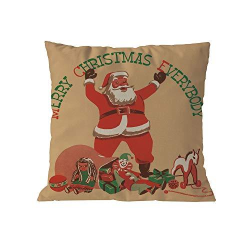 Christmas Pillows Decorative Throw Pillows,Merry Christmas Cases Linen Sofa Cushion Cover Home Decor Pillow Core