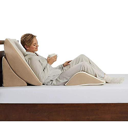 Comfort Dreams Zero Gravity Adjustable 3-Piece Wedge System, Head and Foot support with this Wedge Pillow. Sleep well with the comfort of Memory Foam.Great for an Acid Reflux pillow, comfort when kids are playing Playstation 3.