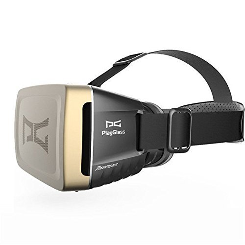 JT Tech PlayGlass Virtual Reality 3D Video Glasses Google Head Mount Movie Video Game For 4 to 6 Inch Smartphone