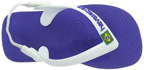 Bambini Sandali Logo Havaianas marine – Brasil Blu Baby Unisex Blue 2711 41wBqgn