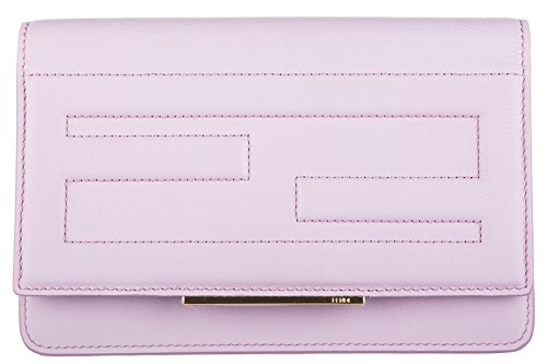 Fendi women's wallet genuine leather coin case holder purse card flamingo