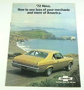 1972 72 Chevrolet Chevy NOVA BROCHURE Coupe SS Rally