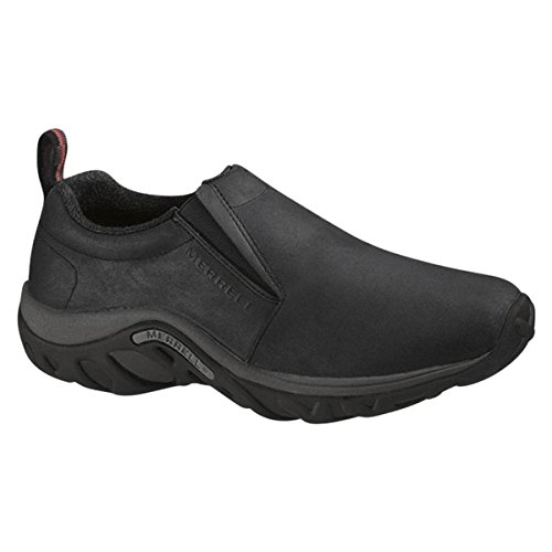 Merrell Men's Jungle Moc Pro Grip Nubuck Slip-Resistant Work Shoe, Black, 8 M US