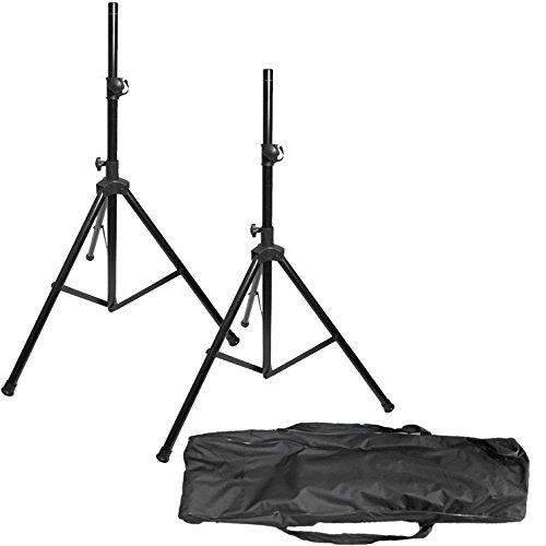 (EMB Professional Pair of SS12 Heavy Duty 6.5FT Tripod Speaker Stage Stands With Carrying Bag )