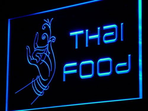Thai Food Thailand Restaurant Cafe LED Sign Night Light i977-b(c) by AdvPro 3D Sign