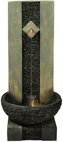 Ornamentales Fuente para jardín o pared de agua con grifo y iluminación: Amazon.es: Jardín