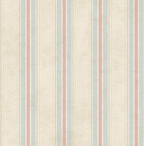 (Vintage Stripe Wallpaper in Primary MV80301 from Wallquest)