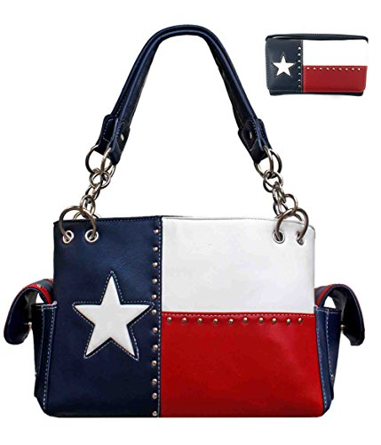 Premium Rhinestone Texas State Women's Concealed Carry Western Handbag. Fast Shipping (Black) - Online Shop Shipping
