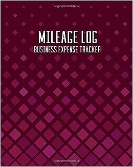 amazon com mileage log business expense tracker a simple burgundy