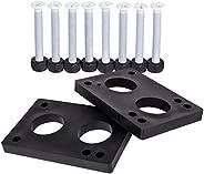 Cal 7 Longboard Bundle - 1.5 Inch Steel Hardware Plus 5/16 Inch Riser Pads