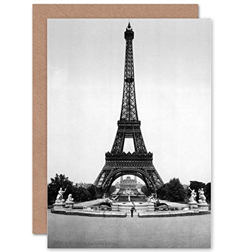 Tower TROCADERO Exposition Universal 1900 Paris Old Greetings Card CP1087 ()