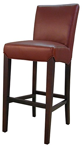 New Pacific Direct Milton Bonded Leather Bar Stool 29.5″,Brown Legs,Dark Brick Red,Fully Assembled Review