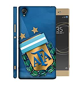 ColorKing Football Argentina 04 Blue shell case cover for Sony Xperia XA1 Plus