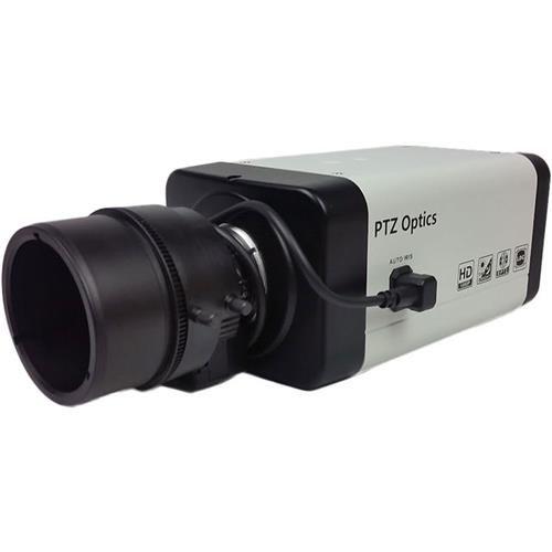 PTZOptics ZCam-4X 2.7MP 1080p Full HD Box Camera, 4x Optical Zoom, 30fps, H.264, HD-SDI, RJ45 Network Video Output Interface