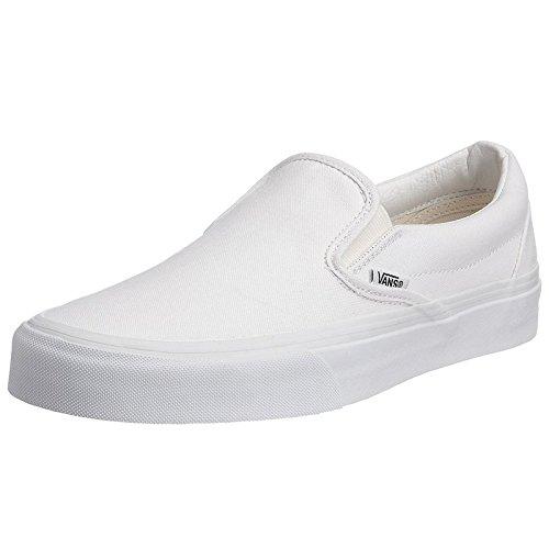 Vans Adult Classic Slip-On Core Classics, True White, Men 7.0, Women 8.5