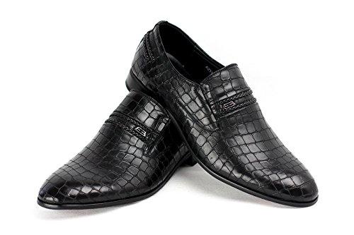 HOMBRE SIN CIERRES Estilo Informal Zapatos Negro