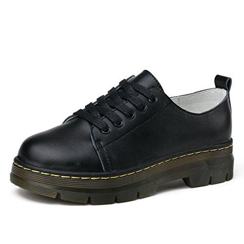 Étudiant Vent Cuir Chaussures D'école Au Printemps,Thick-soled Chaussures Occasionnelles D'angleterre,Femelles Thick-soled Shoes A