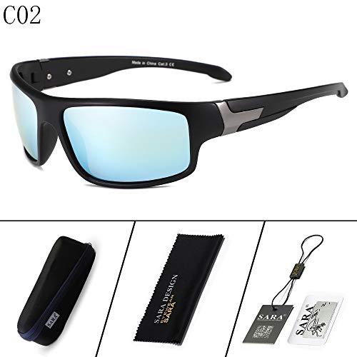 Sol Aire Libre Hombre de 2 Deportivas al Mjia Montar Gafas 3 Negro de polarizadas Gafas polarizador Gafas sunglasses Black vqnYwz