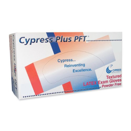 Cypress Medical MCFT049392 Latex Exam Gloves Powder Free Textured Small 100/BX