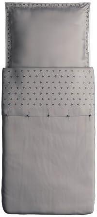 Ikea Vinranka Gris Parure De Lit 1 Place 155 X 220 Cm Taie D Oreiller 80 X 80 Cm 155 X 220 Cm Amazon Fr Cuisine Maison