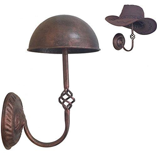 Queens Vintage Design Copper Metal Cap Hat Rack Cowboy Hat Stand Holder Wig Entryway Display Rack (Wall Mount)