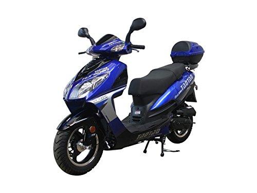 50cc Bigger Size Gas Street Legal Scooter TaoTao EVO 50 - Black (Blue)
