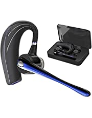 Bluetooth Headset HonShoop Handsfree Wireless Earpiece V5.0 in-Ear w/c Noise Reduction Mic and Mute Key for Business/Driving Call, Support iPhone/Android Cellphones