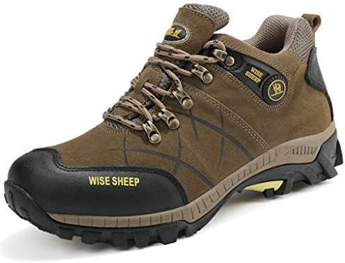男性は靴をハイキングノンスリップ耐摩耗性と軽量ウォーキングシューズアウトドアトレッキング登山動作させるための軽量靴スニーカー (Color : Khaki brown, Size : 6.0UK)