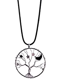 Womens Silver Star Necklace Tree of Life Pendant Healing...