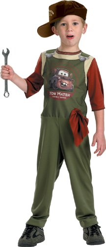 Disney Car Costume Toddlers (Tow Mater Mechanic - Size: Child S(4-6))