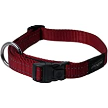 Reflective Dog Collar for Large Dogs, Adjustable from 13-22 inches, Red