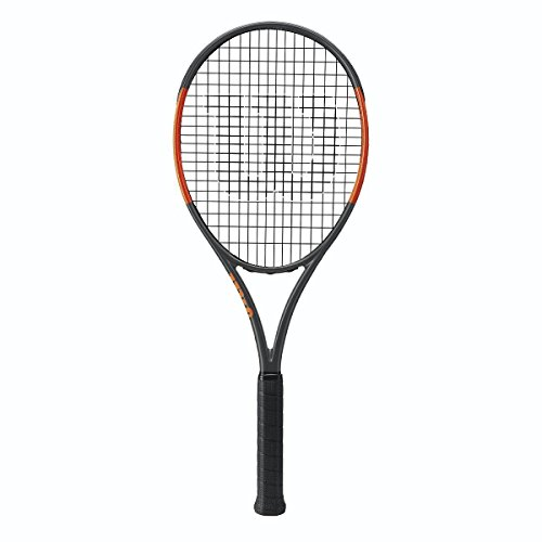 Wilson Burn 100ULS (Ultra Light Spin) Black/Orange Tennis Racquet/Racket Strung with Custom Colors