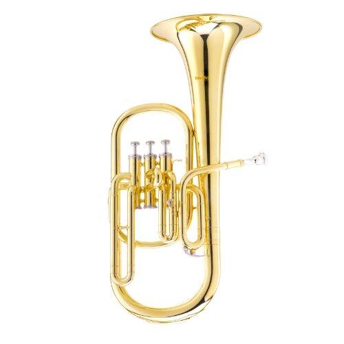 [해외]멘디 니 MAH-L 래커 E 플랫 알토 혼 스테인레스 스틸 피스톤, 골드/Mendini MAH-L Lacquer E Flat Alto Horn with Stainless Steel Pistons, Gold