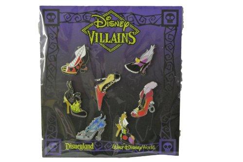 Disney Villains High Heel Shoes Booster 7 Pin Set from Disney