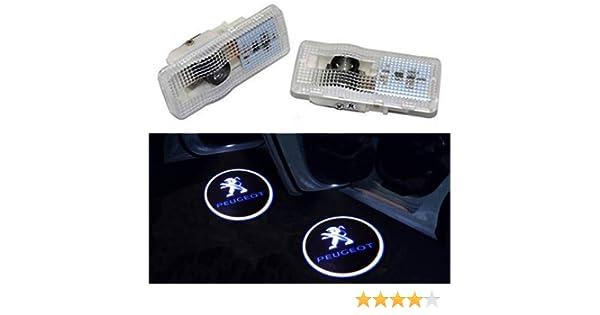 Sunshine Fly 2unidades Auto Puerta Logo Puerta Iluminación LED Bienvenida Logo proyector Light Laser brilla Logo de puerta