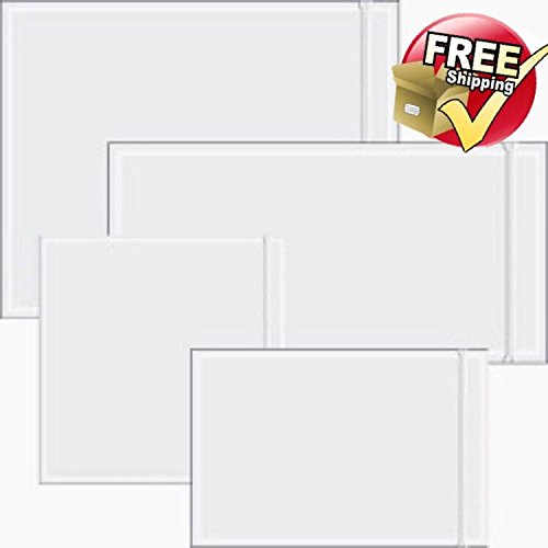 1,000 - 7'' x 10'' Clear Packing List Enclosed Envelopes Plain Face Back load / Shipping Label Envelopes / Label Envelopes Pouches / CLEAR FACE – NON-PRINTED