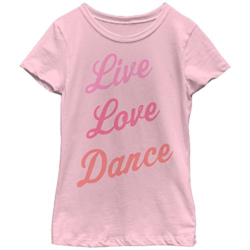 Fifth Sun Girls' Little Girls' Dance Inspired Graphic T-Shirt Shirt, Pink Tri Color, Medium/7-8 (T-shirt Dance Girls)