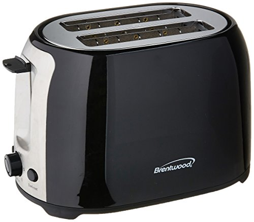 Brentwood - 2-slice Wide-slot Toaster - White/stainless Stee