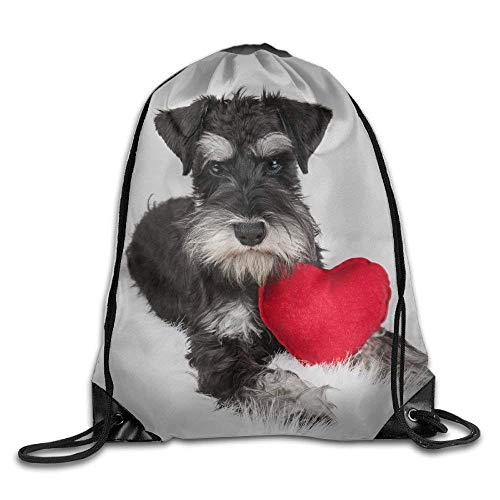 Dog Love Gym Drawstring Backpack Unisex Portable Sack Bags