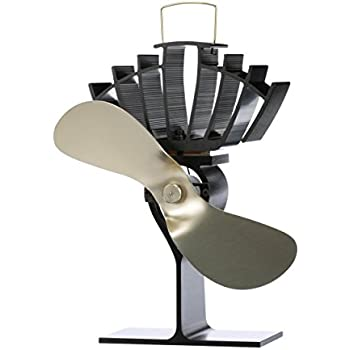 Made in Canada Ecofan 812AMBBX AirMax Large Heat Powered Wood Stove Fan Gold