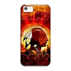 Tpu Case Cover For Iphone 5c Strong Protect Case - Washington Redskins Design