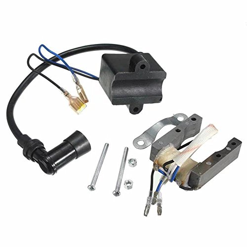 HonsCreat CDI Ignition Coil + Magneto Coil for 49cc 50cc 60cc 80cc 2-Stroke Engines Motor Motorized Bicycle Bike by HonsCreat