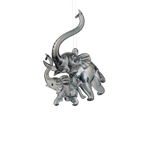GALLERIE II Elephant Mom & Baby Ornament Grey ()