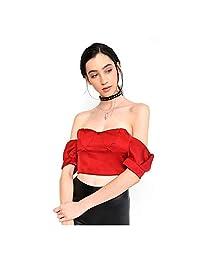 LOB-Blusa Strapless Rojo Obscuro DBTT0035