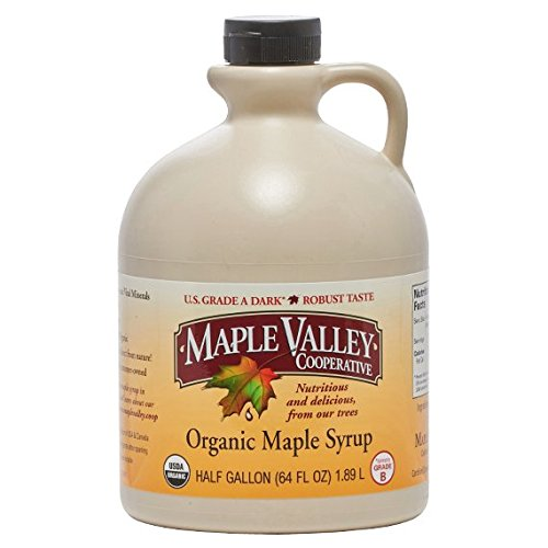 Maple Valley Grade A Brunette & Robust (formerly Grade B) Organic Maple Syrup - 1/2 Gallon (64 Oz) BPA-free Jug