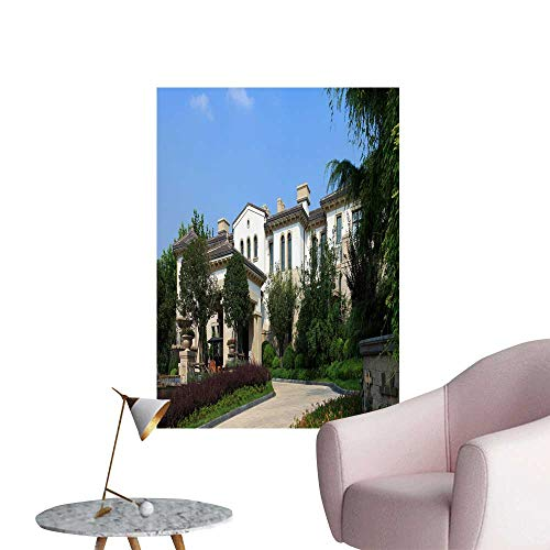 Georgetown Exterior Wall - SeptSonne Wall Art Prints Villa Exterior for Living Room Ready to Stick on Wall,20